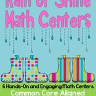 Rain or Shine Math Centers- 6 Hands on Centers {Common Cor