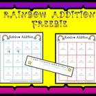 Rainbow Addition Freebie