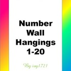 Rainbow Blend Number Wall Hangings 1-20