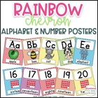 Rainbow Chevron Alphabet and Number Posters