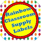 Rainbow Classroom Supply Labels