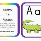 Rainbow Fun Alphabet cards