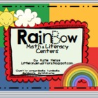Rainbow Math and Literacy Centers