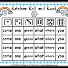 Rainbow Roll and Read Spring Sight Word Center