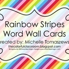 Rainbow Stripes Word Wall Cards