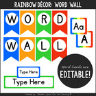 Rainbow Word Wall w/ Editable Word Cards {For Early Childh