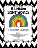 Rainbow Words Kinder Style