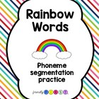 Rainbow Words Sight Word Practice