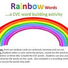 Rainbow Words - a CVC word building activity