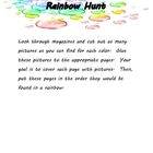 Rainbow Writing and Activity