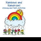 Rainbows and Raindrops! Literacy and Math Activities