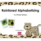 Rainforest Alphabetizing to three letters
