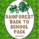 Rainforest Theme Back to School Mega Pack