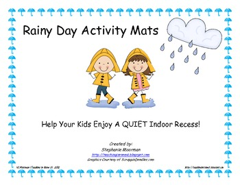Rainy Day Activity Mats
