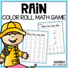 Rainy Day Color Roll - Math Work Station