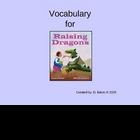 Raising Dragons Vocabulary Houghton Mifflin Series