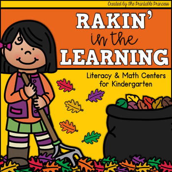 Rakin' in the Learning {Fall Themed Kindergarten Literacy & Math Centers}