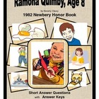 Ramona Quimby, Age 8:  Short Answer Questions