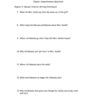 Ramona and her Father Chapter Comprehension Packet