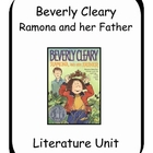 Ramona and her Father by Beverly Cleary Literature Unit