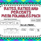 Rates, Ratios & Percents Mega Foldables Pack for Interacti