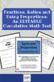 Ratio & Proportion: A Cumulative Math Test