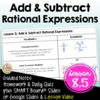 Rational Functions ALG Lesson 5: Add and Subtract Rational