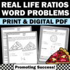 Ratios Common Core Real World Life Application Word Proble
