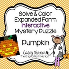 Read & Color Number Words Interactive Math Puzzle with Num