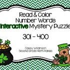 Read & Color Number Words Interactive Math Puzzle 301 - 40
