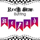 """Read Like a Rock Star"" bunting"