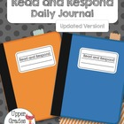 Read and Respond Booklet