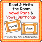 Read and Write the Room with Vowel Combinations/Dipthongs
