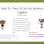 Read it, Trace It, Put the Sentence Together: Camping theme