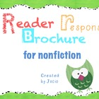 Reader Response Brochure for Nonfiction {Common Core Aligned}