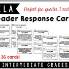 Reader Response Cards (Intermediate Grades)