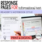 Reader's Notebook for Informational Text {BIG Resource for
