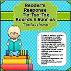 Reader's Response Sentence Starters & Tic Tac Toe Boards -