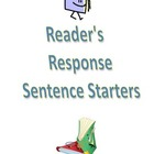 Reader's/Reading Response Notebook Sentence Starters