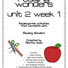 {Reading Wonders: Unit 2, Week 1} Activity Pack Kindergarten