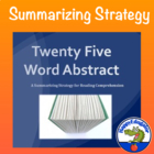 Reading - 25 Word Abstract Summarizing Activity