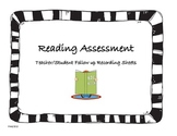 Reading Assessment Follow Up Recording Sheets