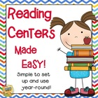 Reading Centers Made Easy!  Grades 1 - 4  Simple to Use!