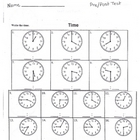 Reading Clocks Worksheet (analog time elementary)