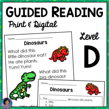 Reading Comprehension Passages with Text-Based Questions: Gd. Rdg. Level D