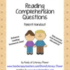 Reading Comprehension Questions Parent Handout