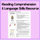 Reading Comprehension Skills and Strategies Resource
