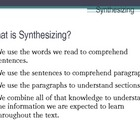 Reading Comprehension Strategy - Synthesizing Texts