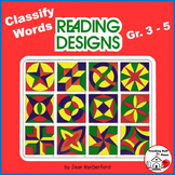 Classify words in READING DESIGNS