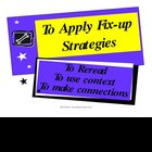 Reading Fix up Strategies {Classroom Poster}